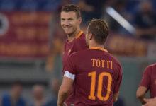 """Dzeko: """"Auguri Capitano, spero che tu possa giocare anche l'anno prossimo con la Roma"""""""