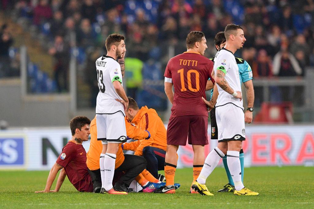 Roma in ansia per Perotti: problema al flessore della coscia destra per l'argentino?