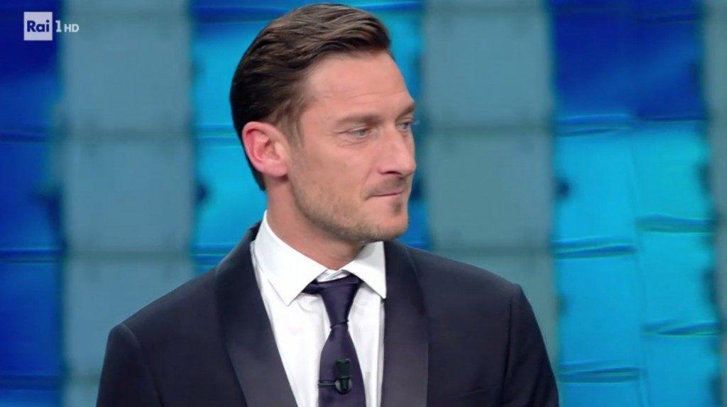 Francesco Totti ospite alla seconda serata di Sanremo 2017
