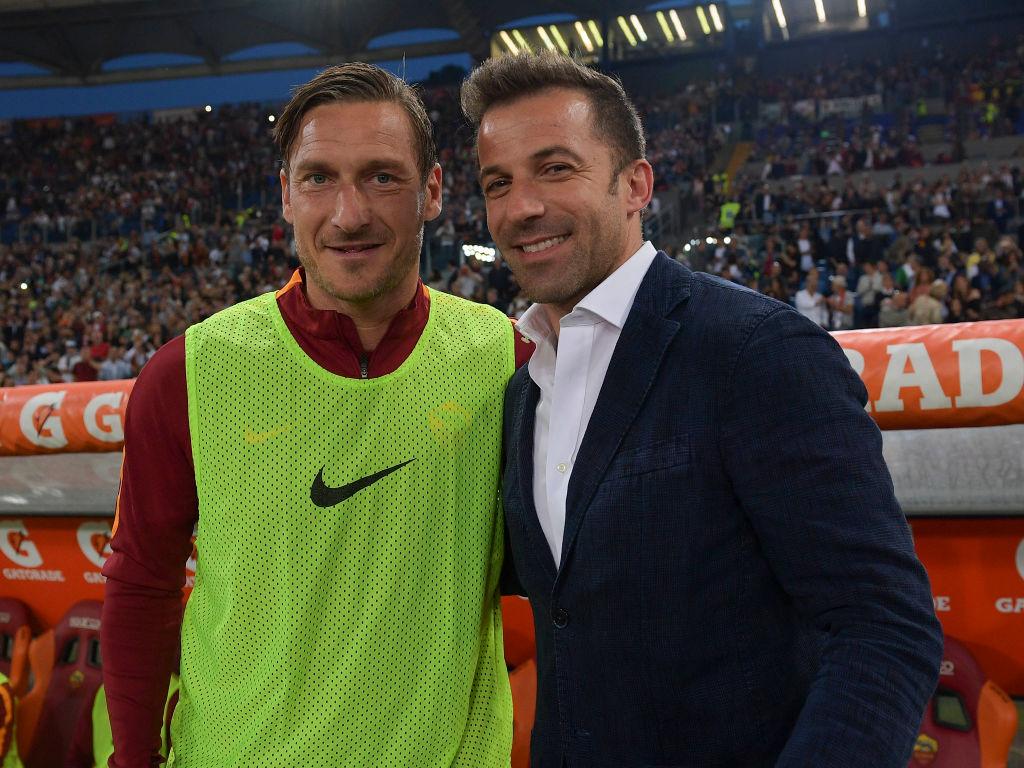 Del Piero, Totti in campo con Genoa