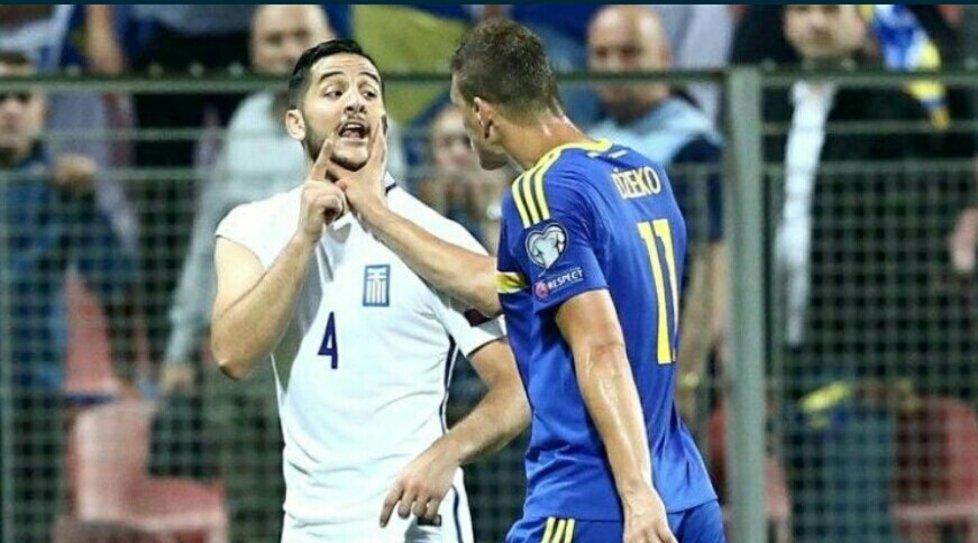Incredibile quanto accaduto in Bosnia-Grecia: Dzeko e Manolas vengono alle mani!
