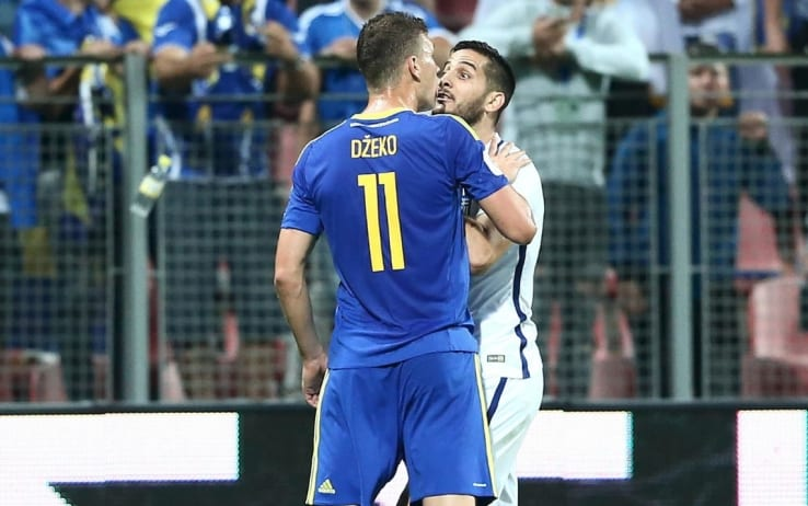 Qualificazioni, Dzeko e Manolas mani al collo in Bosnia-Grecia