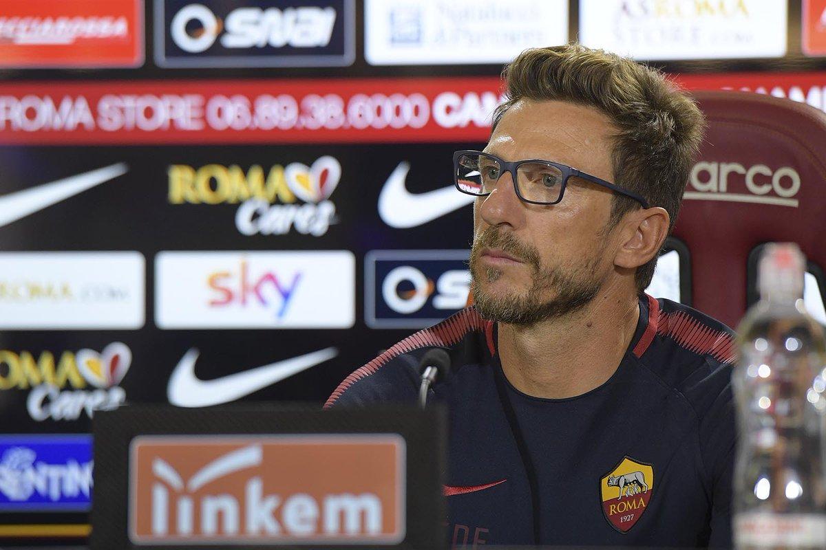 Roma, la conferenza stampa di Eusebio Di Francesco (LIVE)