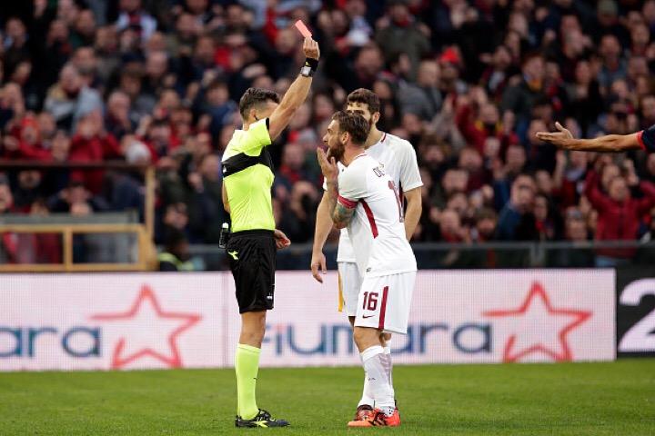 Genoa-Roma, 'De Rossi gravemente antisportivo' 2 turni stop